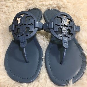 💎ToryBurch Miller Embossed leather Blue Yonder 💎